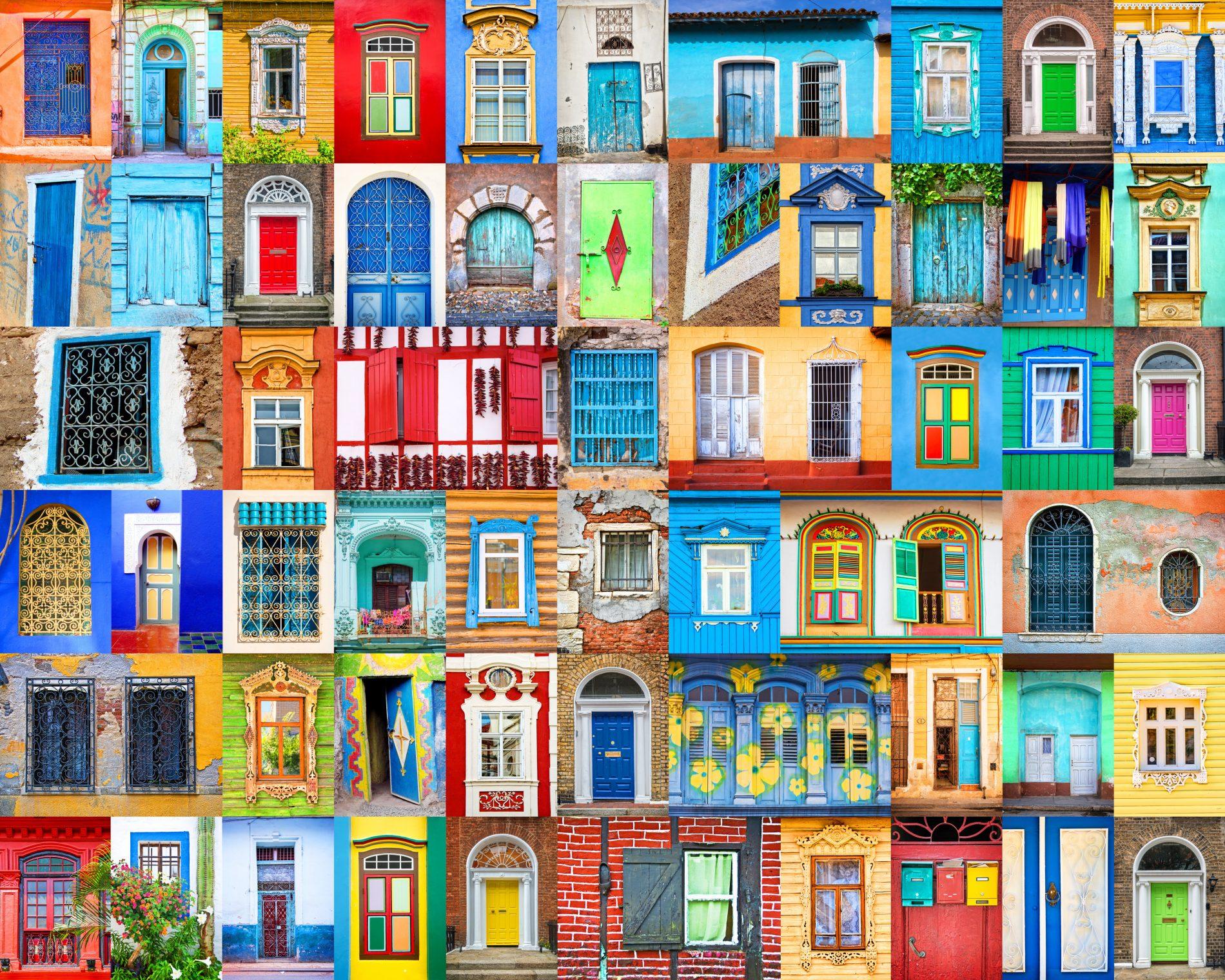Collage van deuren